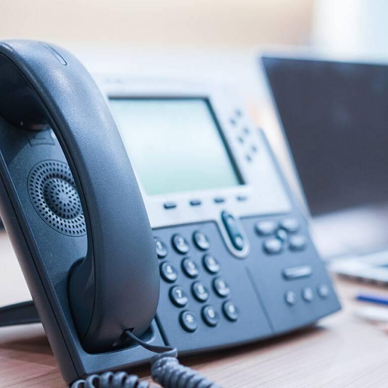 desk-phone-gray